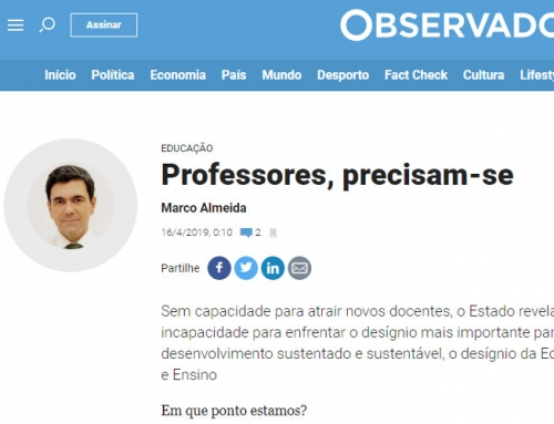 """Artigo de Opinião de Marco Almeida no """"Observador"""""""