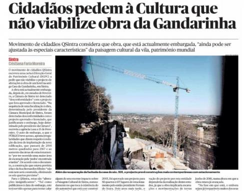 Cidadãos pedem à Cultura que não viabilize obra da Gandarinha