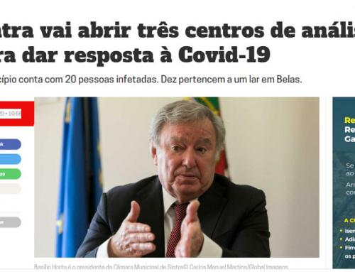 Anunciar é fácil. Dois meses depois, Sintra tem apenas UM centro de diagnóstico COVID-19!