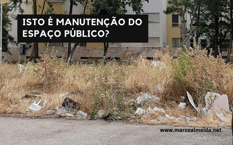 Mais uma imagem do desleixo na conservação do espaço público