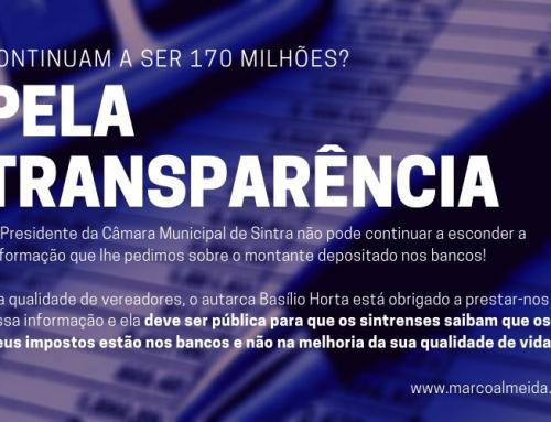 Pela transparência: continuam a ser 170 milhões?