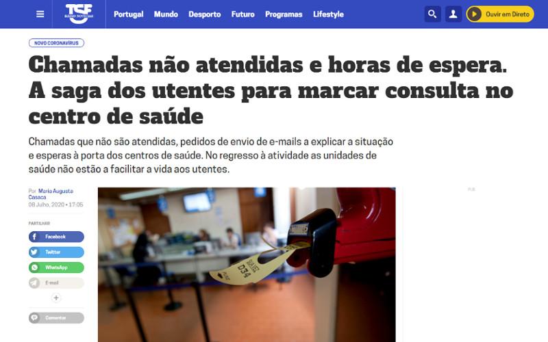 Utentes desesperam para marcar uma consulta nos Centros de Saúde