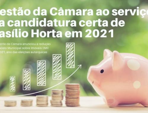 A gestão da Câmara ao serviço da candidatura certa de Basílio Horta em 2021