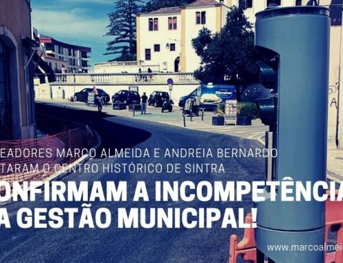 Os vereadores Marco Almeida e Andreia Bernardo visitaram o Centro Histórico de Sintra. Confirmam a incompetência da gestão municipal!