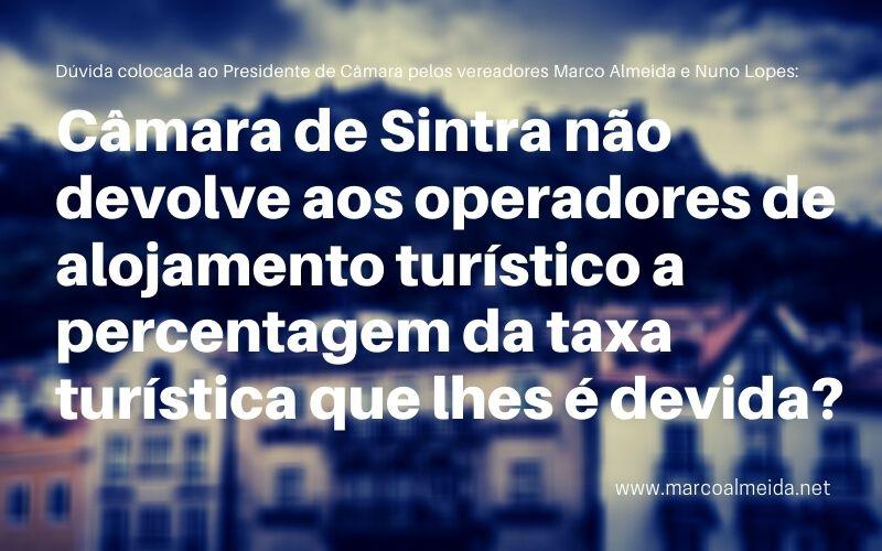 Câmara de Sintra não devolve aos operadores de alojamento turístico a percentagem da taxa turística que lhes é devida?