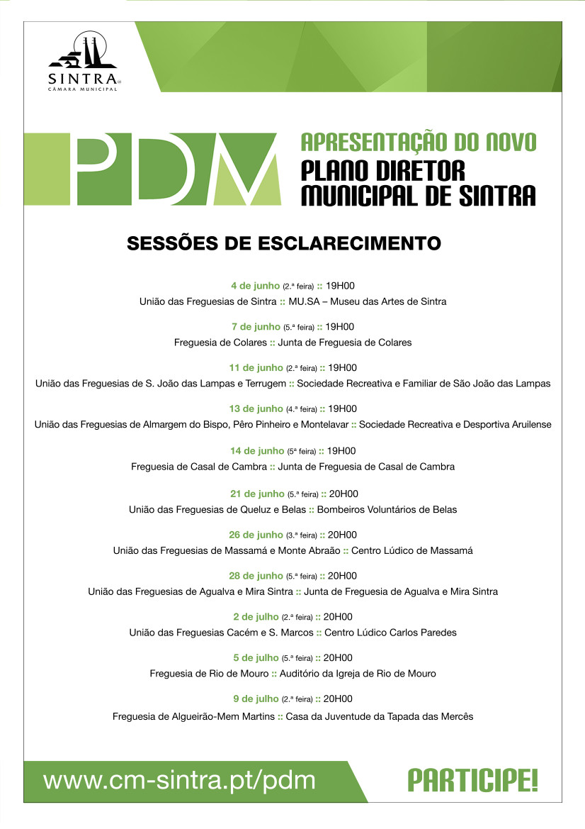 PDM 2018 sessoes