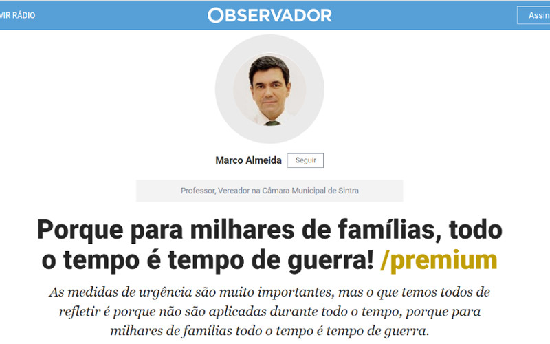 Vereador Marco Almeida reage às declarações de Basílio Horta