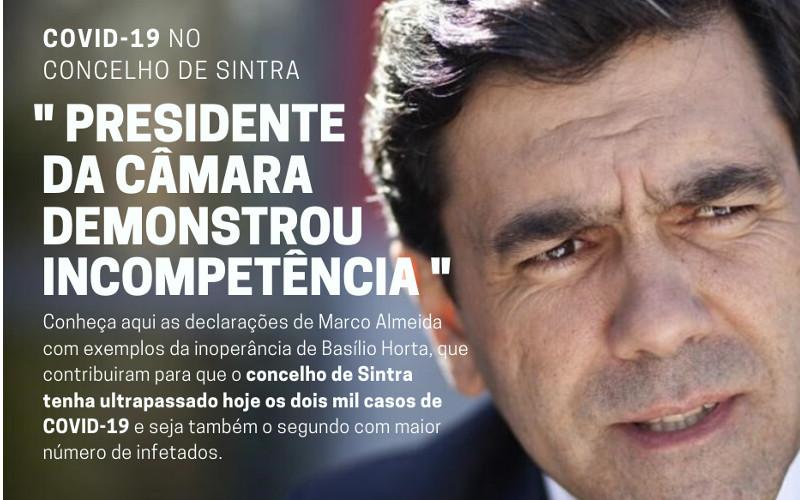 "COVID-19: ""Presidente da Câmara de Sintra demonstrou incompetência"""