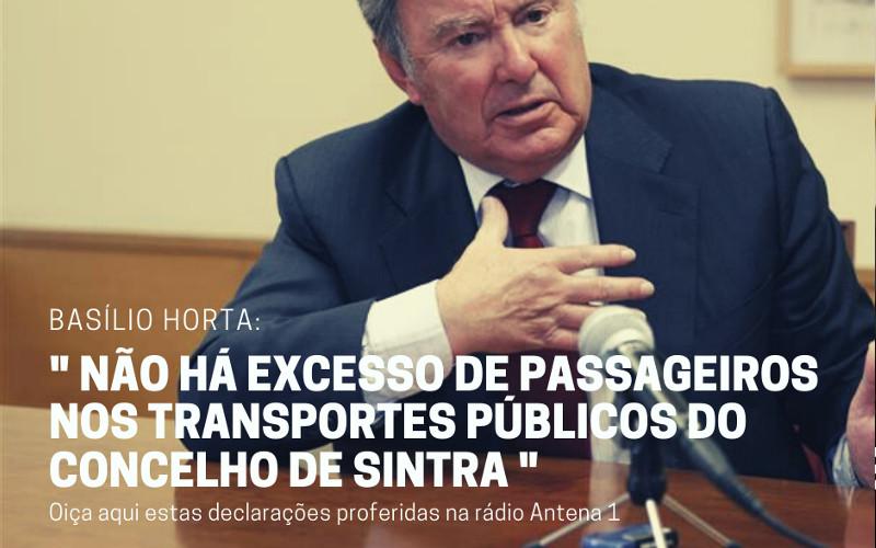 Basílio Horta afirma que não há excesso de passageiros nos transportes públicos do concelho de Sintra