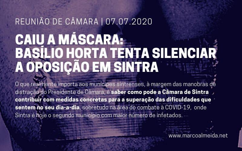 Caiu a máscara: Basílio Horta tenta silenciar a oposição em Sintra