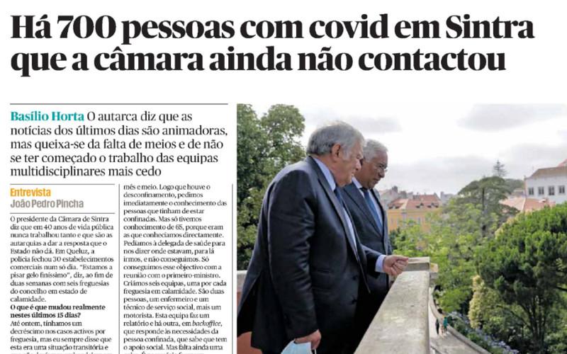 Basílio Horta admite que no concelho de Sintra há 700 casos confirmados que ainda não foram contactados