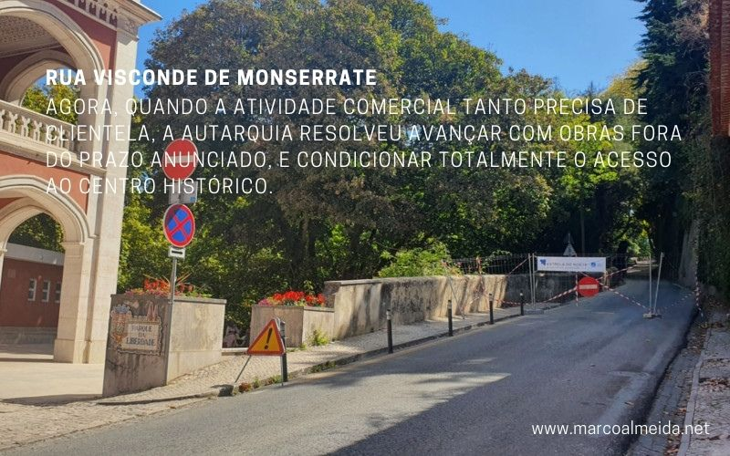 Obras na Rua Visconde de Monserrate