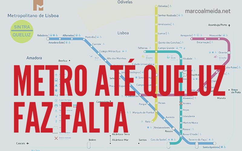 Metro até Queluz faz falta