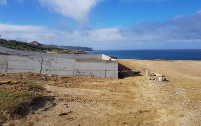 Construção de um muro em betão gera dúvidas