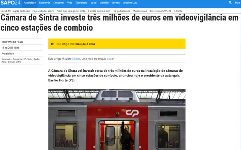 Câmara de Sintra recua na videovigilância?